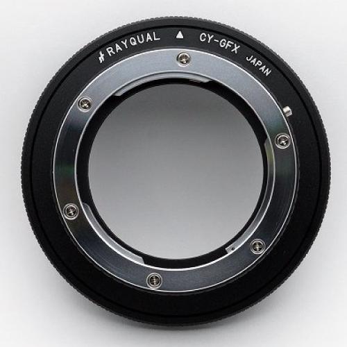 Rayqual 日本製レンズマウントアダプター<FUJI GFX 50Sマウントボディ>Contax/Yashicaレンズ/CY-GFX