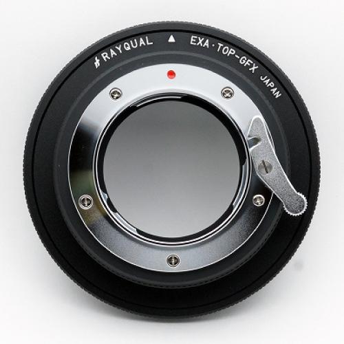 Rayqual 日本製レンズマウントアダプター<FUJI GFX 50Sマウントボディ>エキザクタトプコンレンズ/EXA-GFX