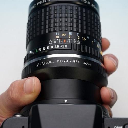 Rayqual 日本製レンズマウントアダプター<FUJI GFX 50Sマウントボディ>ペンタックス645レンズ/PTX645-GFX