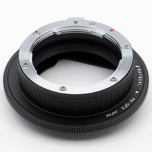Rayqual 日本製レンズマウントアダプター<FUJI GFX 50Sマウントボディ>ペンタックスKレンズ/PK-GFX