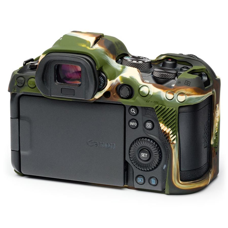 イージーカバー Canon EOS R5/R6 用 カモフラージュ 液晶保護フィルム付属