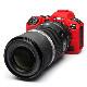 イージーカバー Canon EOS R5/R6 用 レッド 液晶保護フィルム付属