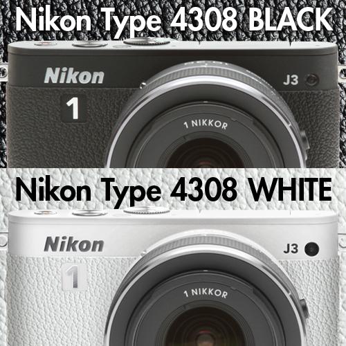 ニコン1 J3 用張り革キット 4308ホワイト
