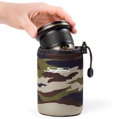 イージーカバー ネオプレーン レンズポーチ SMALLサイズ 10cm 【カモフラージュ】