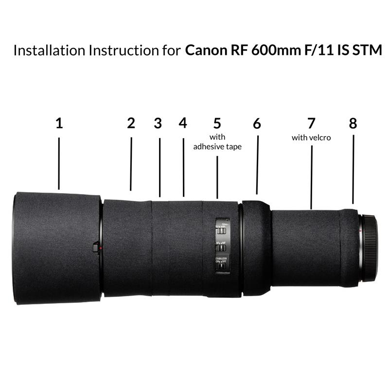 イージーカバー レンズオーク キヤノン RF600mm F11 IS STM 用 ブラック