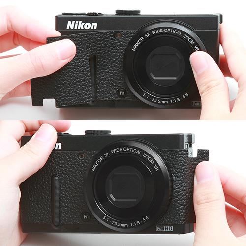 ニコン クールピクスP330 用張り革キット 4308ホワイト