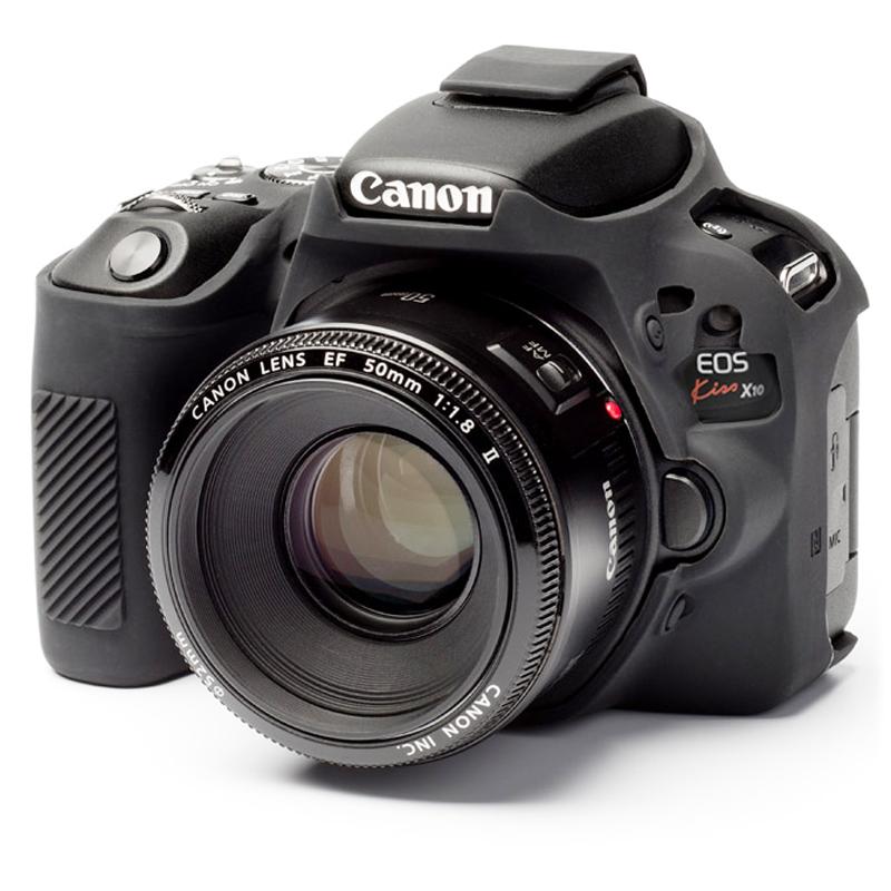 イージーカバー Canon EOS Kiss X10 用 ブラック 液晶保護フィルム付属