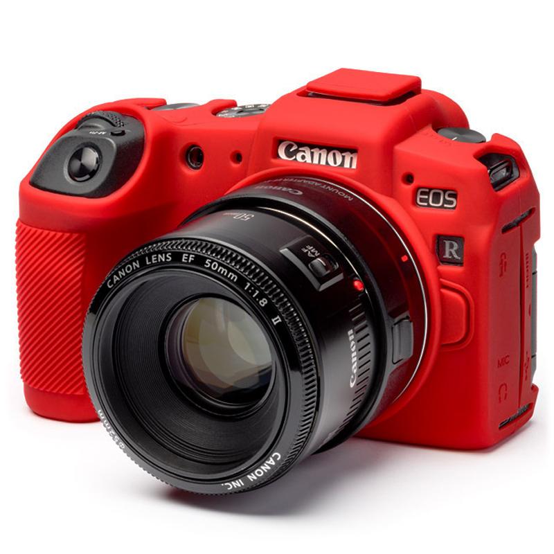 イージーカバー Canon EOS RP 用 レッド 液晶保護フィルム付属