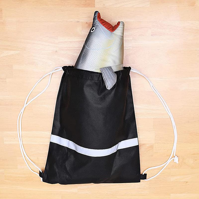 北海道産 鮭 ネックピロー(筋子タイプ) 旅行用首枕  不織布巾着リュック付属  Neck pillow-0419