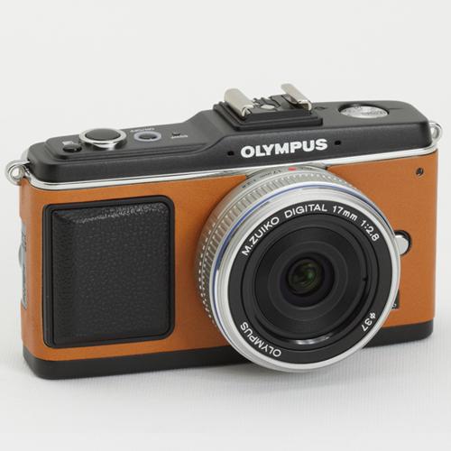OLYMPUS ペン E-P1/E-P2 張り革キット<5050 キャメル>