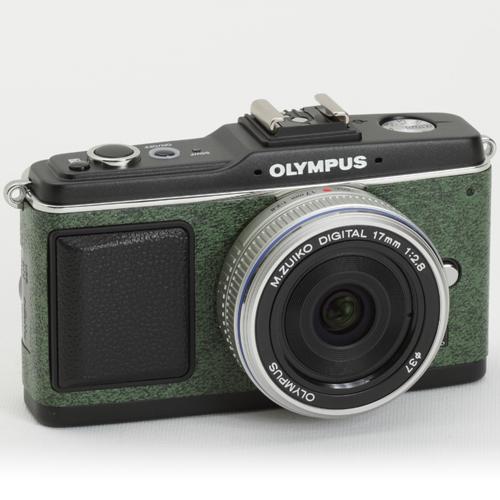 OLYMPUS ペン E-P1/E-P2 張り革キット<7027 グリーン>