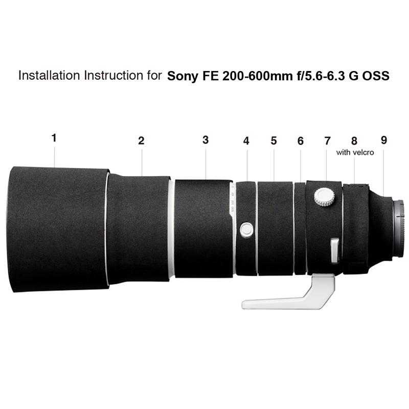 イージーカバー レンズオーク ソニー FE 200-600 F5.6-6.3 G OSS  用 ブラック