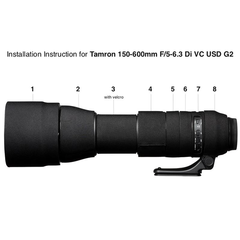 イージーカバー レンズオーク タムロン 150-600mm F/5-6.3 Di VC USD G2  用 ブラック