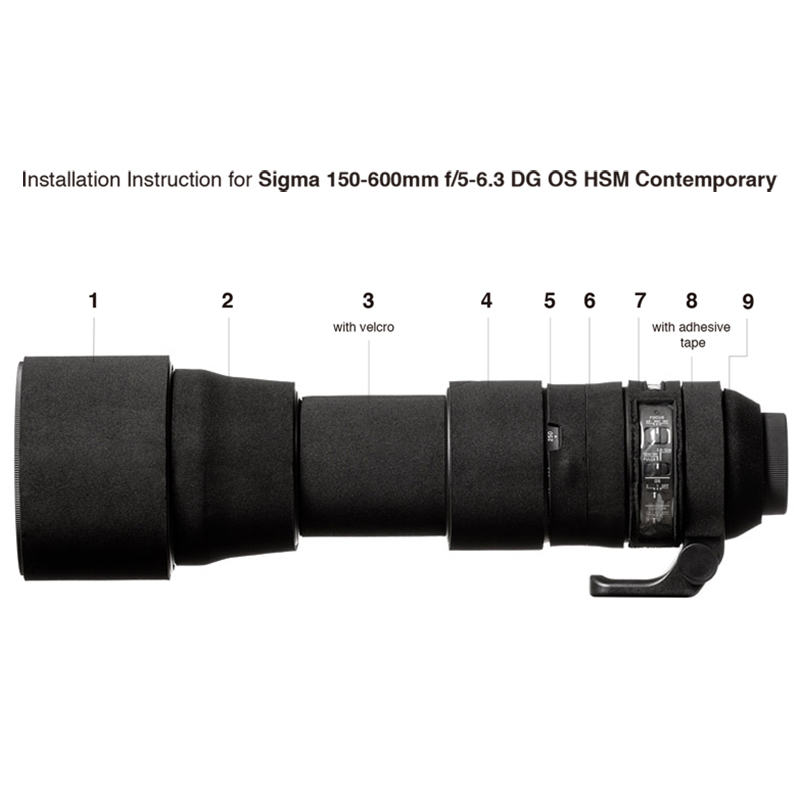 イージーカバー レンズオーク シグマ 150-600mm F/5-6.3 DG OS HSM 用 ブラック