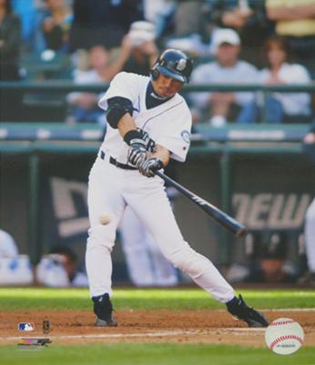 イチロー・トリプル直筆サイン)MLB年間最多262安打新記録達成記念 マリナーズオーセンティックホームジャージー