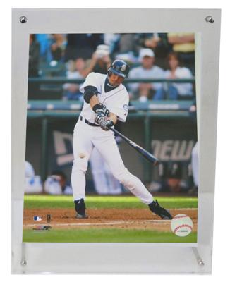 イチロー・トリプル直筆サイン)MLB年間最多262安打新記録達成記念 イチロー試合用モデルバット