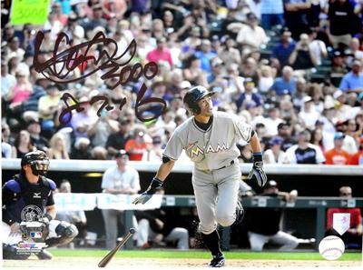 イチロー・トリプル直筆サイン)MLB通算3,000本安打達成記念 フォトフレーム