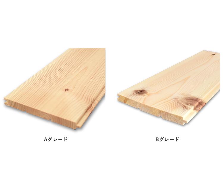【レッドパイン A(B)グレード 糸面】羽目板 無塗装 12(13)x112x3900mm(8枚入)