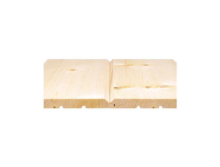 【ロシアレッドパインログパネル 幅広】 無塗装 19x181x3900mm(5枚入)