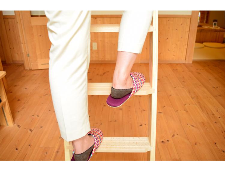 軽量【北欧ラダー】 木製ロフトはしご  アウトレット品