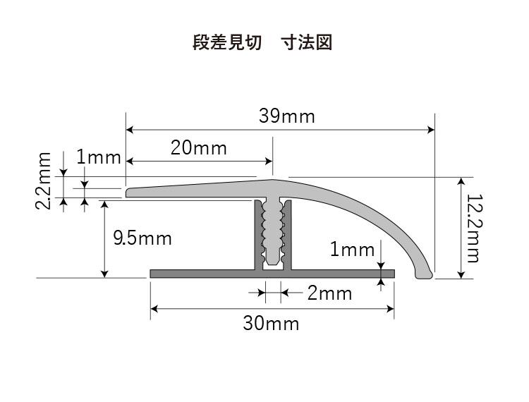 【段差見切 FMA】イノヴァーフロア専用 6種類 12.2x39x2700mm