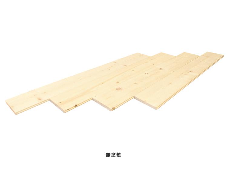 【15mm厚】スプルースフローリング 無塗装(オイル塗装) 15x130x1820mm(6枚入)