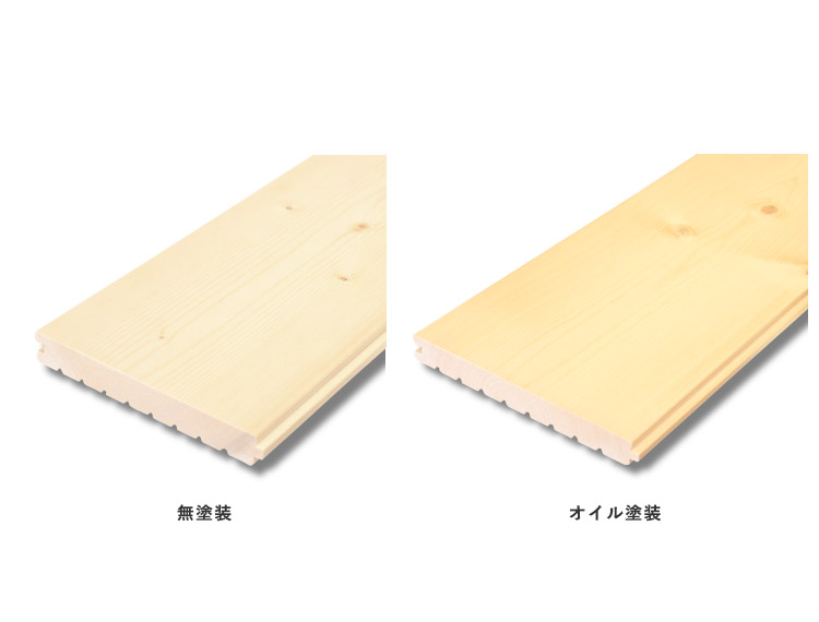 【18mm厚】スプルースフローリング 無塗装(オイル塗装) 18x130x1820mm(6枚入)