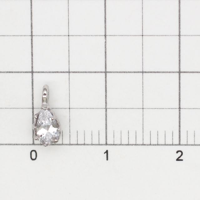 0010792SVC SV925製チャーム ドロップ ロジウム 8.5×4.0×3.0mm 1ヶ