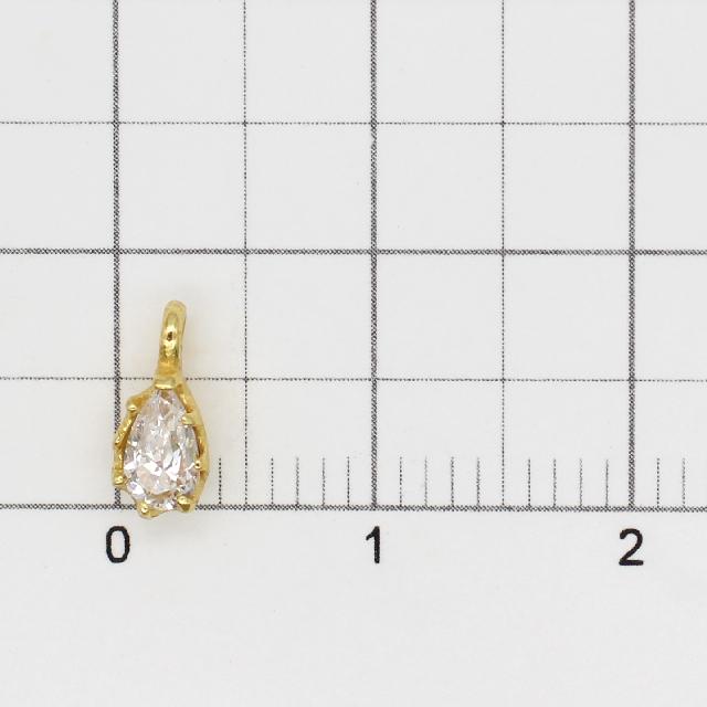 0010793SVC SV925製チャーム ドロップ ゴールド 8.5×4.0×3.0mm