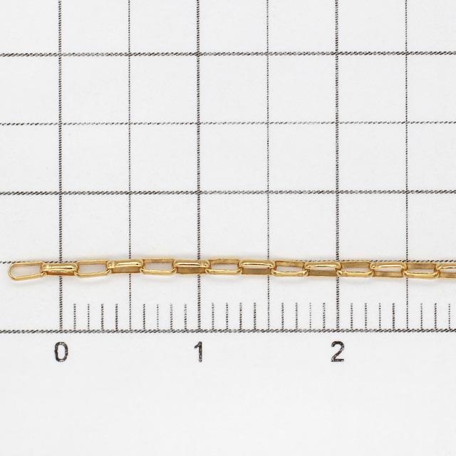 0860027GFN 14KGF製オーバルロールチェーン 線径0.20mm太さ1.4mm長尺 10cm
