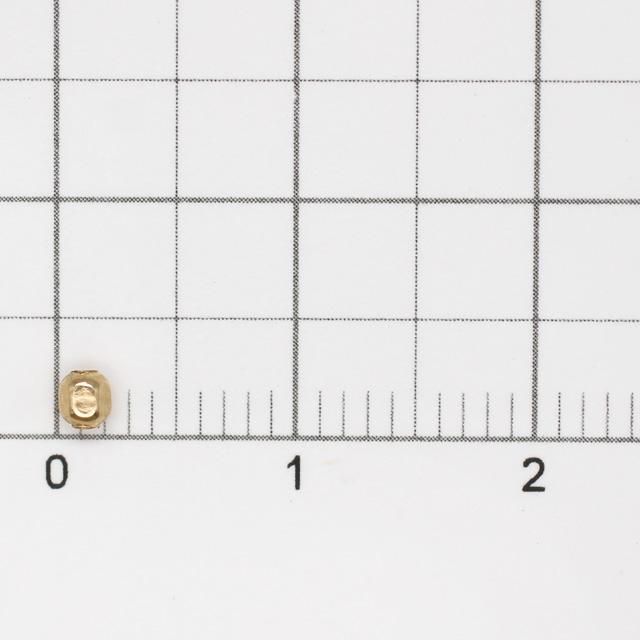 01S0059GFB 14KGF製ビーズ スクエア 2.5×2.0mm穴径0.7mm 4ヶ
