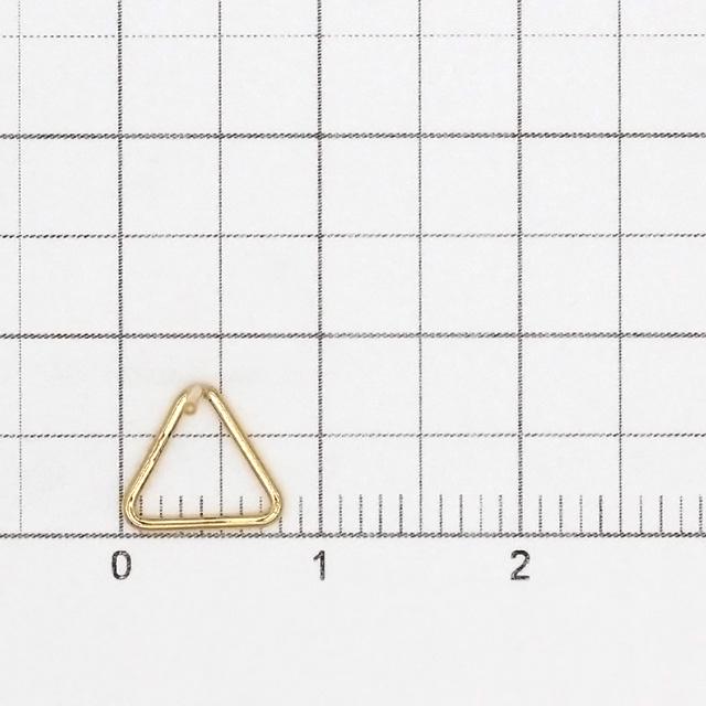 02C0114GFE 14KGF製ピアス トライアングル 7.5×8.0×10.5mm線径0.74mm 1ペア