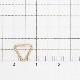 02C0116GFE 14KGF製ピアス 逆トライアングル 7.5×8.0×10.5mm線径0.74mm 1ペア