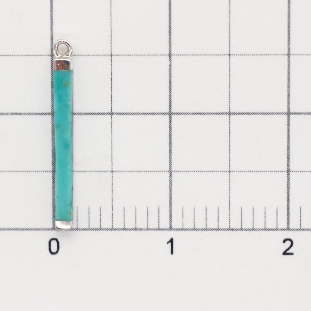 71F0714SVC SV925・ターコイズ製チャーム バー 16.5×1.8×2.0mm 1ヶ