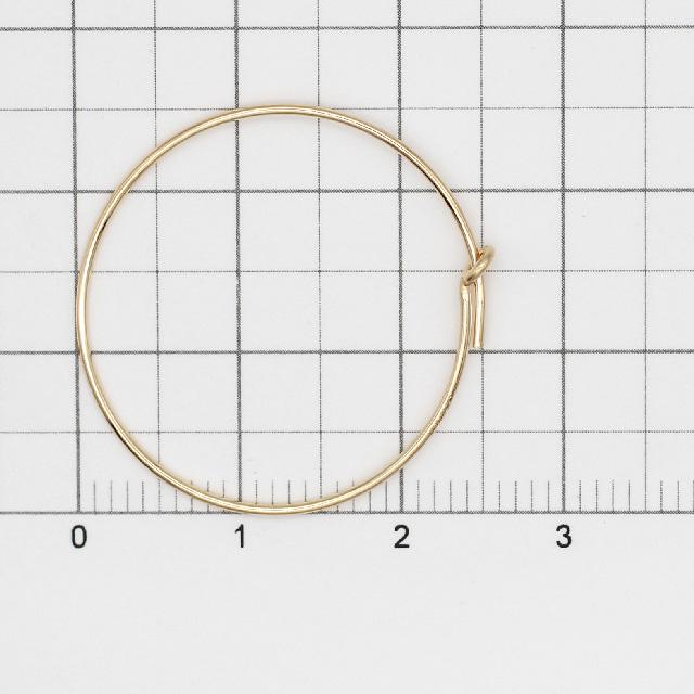 02C0025GFE 14KGF製フープピアス 25.0mm線径0.7mm 1ペア