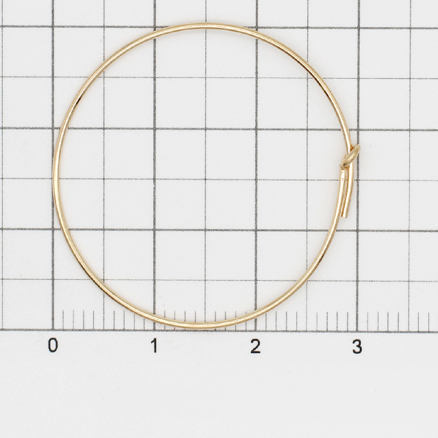 02C0026GFE 14KGF製フープピアス 30.0mm線径0.7mm 1ペア