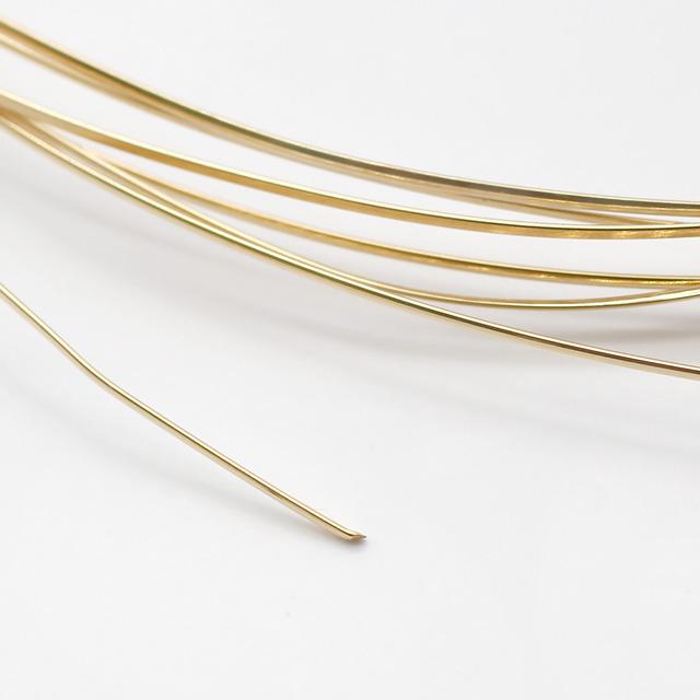 01S0035GFW 14KGF製ワイヤー ハーフラウンド ハーフハード 線径0.7mm 10cm