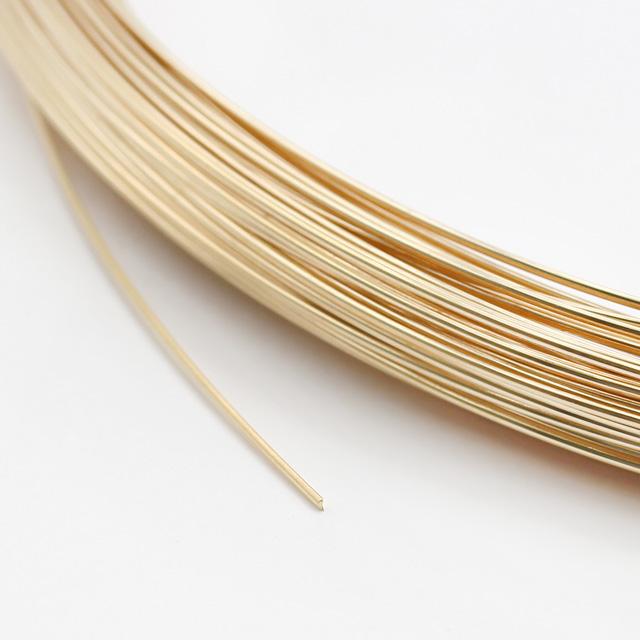 01S0036GFW 14KGF製ワイヤー ハーフラウンド ハーフハード 線径0.6mm 10cm