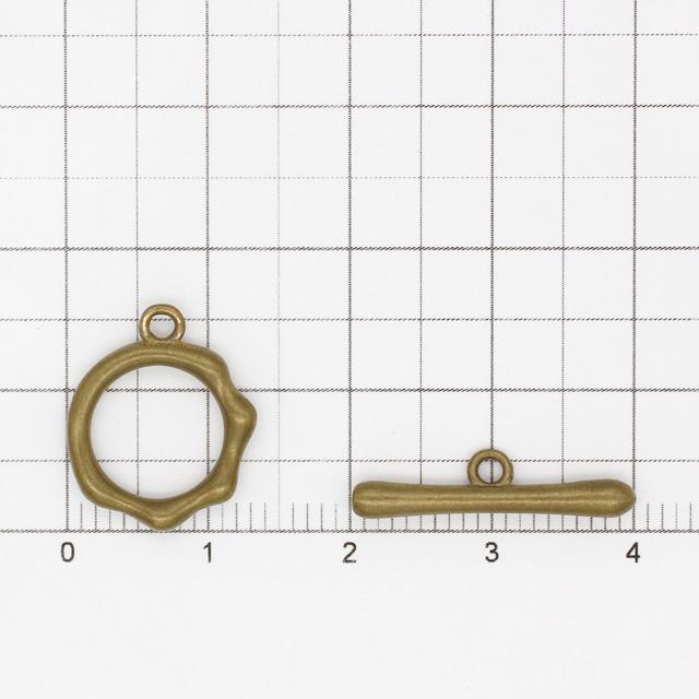 2210650BRP 真鍮製マンテル 変形サークル 生地 リング13.5×16.0×2.3mmバー20.0×5.0×2.5mm 2セット
