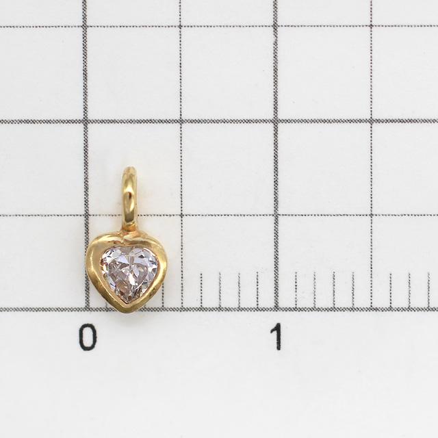 0010797SVC SV925製チャーム ハート ゴールド 7.5×4.5×2.0mm 1ヶ
