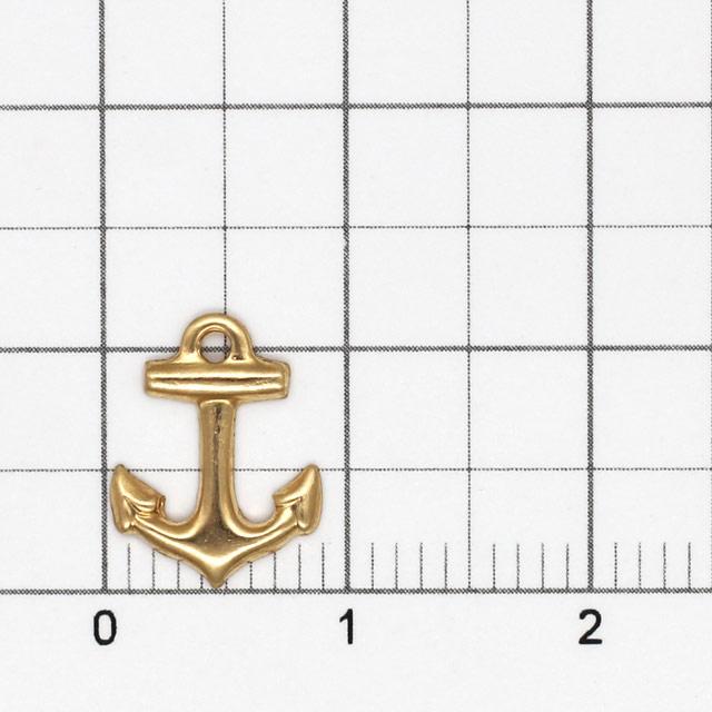 01S0062GFC 14KGF製チャーム イカリ 裏抜き 11.5×8.5×1.0mm 1ヶ
