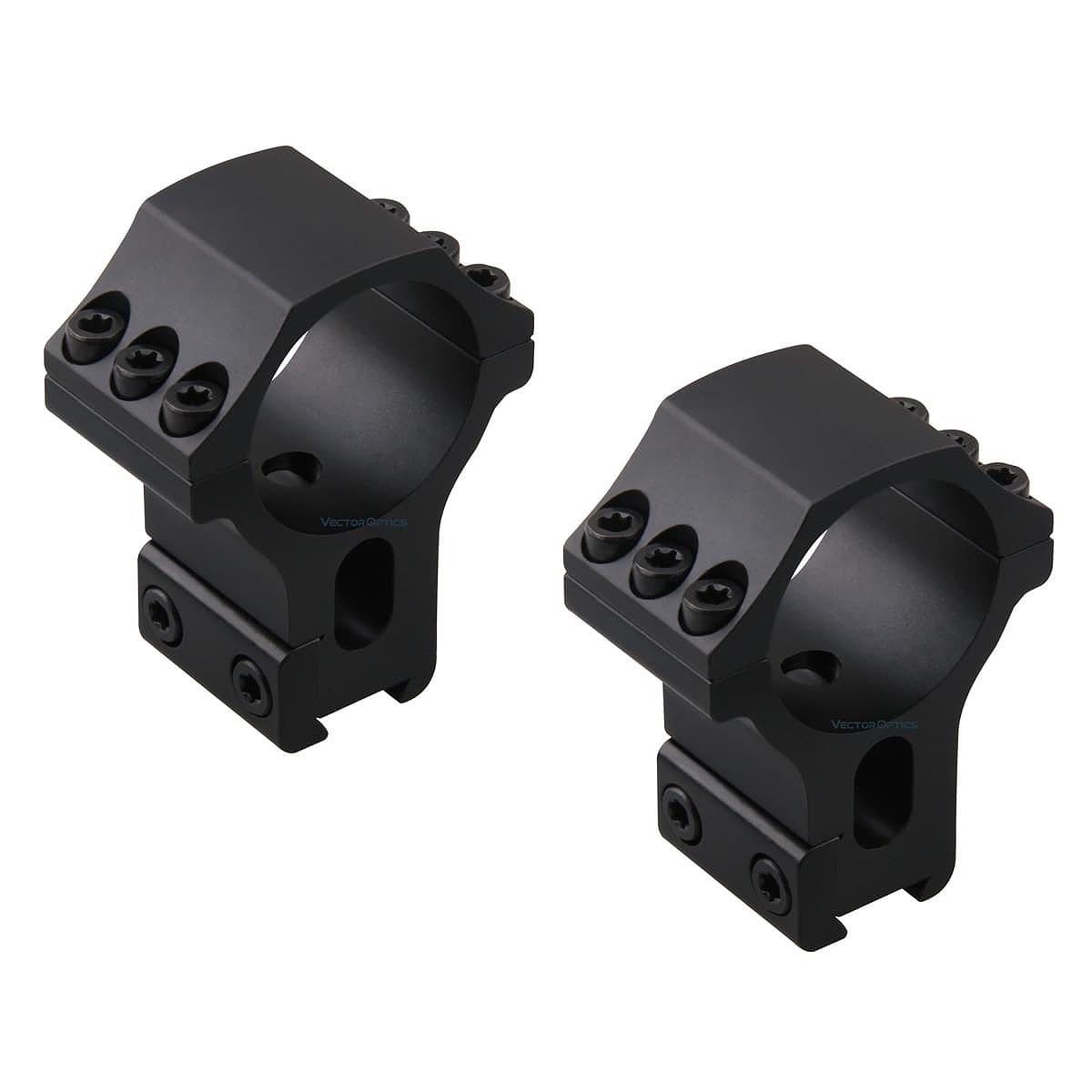"""【お届け予定日: 6月30日】ベクターオプティクス スコープマウント 30mm X-Accu 1.5""""Profile Dovetail Rings  Vector Optics SCTM-38"""