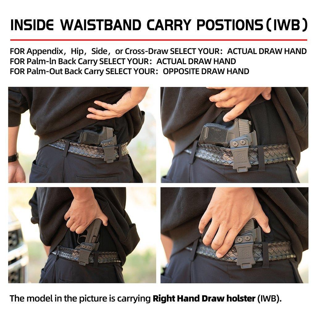アンバライド ホルスター グロック 17/22/31 (Gen 1-5) - IWB KYDEX Holster Amberide Glock 17/22/31 (Gen 1-5) - Coyote Brown / Right - IWB KYDEX Holster