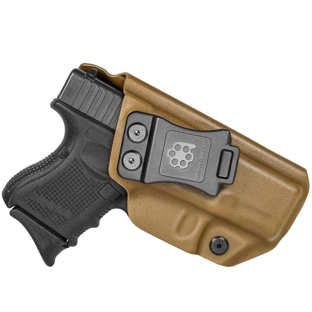 アンバライド ホルスター グロック 26 27 33 (Gen 1-5) - IWB KYDEX Holster Amberide Glock 26 27 33 (Gen 1-5) - Coyote Brown / Right - IWB KYDEX Holster