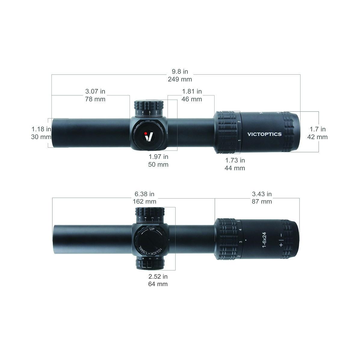 ベクターオプティクス  ライフルスコープ S6ブラック Vector Optics S6 Burnt Black 1-6x24