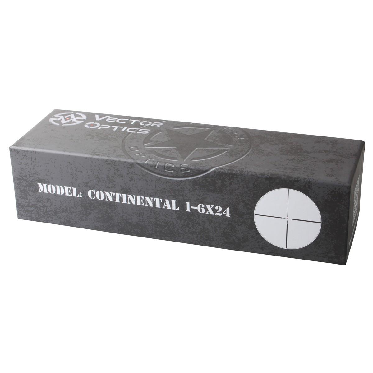 【お届け予定日: 6月30日】ベクターオプティクス ライフルスコープ Continental 1-6x24  Vector Optics SCOC-23