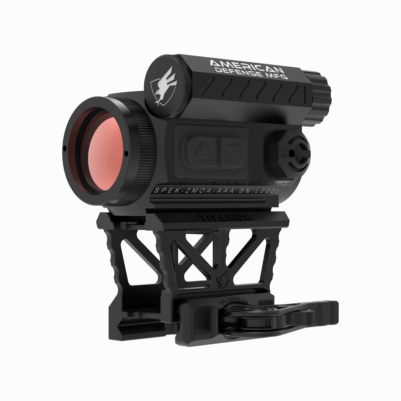 アメリカンディフェンス ドットサイト + T1 Lower 1/3 Co-witness チタンマウント American Defense MFG Red dot with T1 low mount with All Titanium mount
