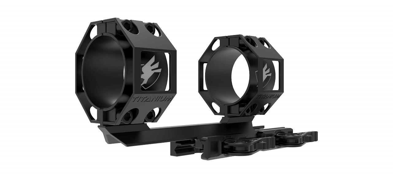 """アメリカンディフェンス ワンピースマウント + 2インチ オフセット フルチタン American Defense MFG Dual ring scope mount with a 2"""" offset- Full Titanium"""