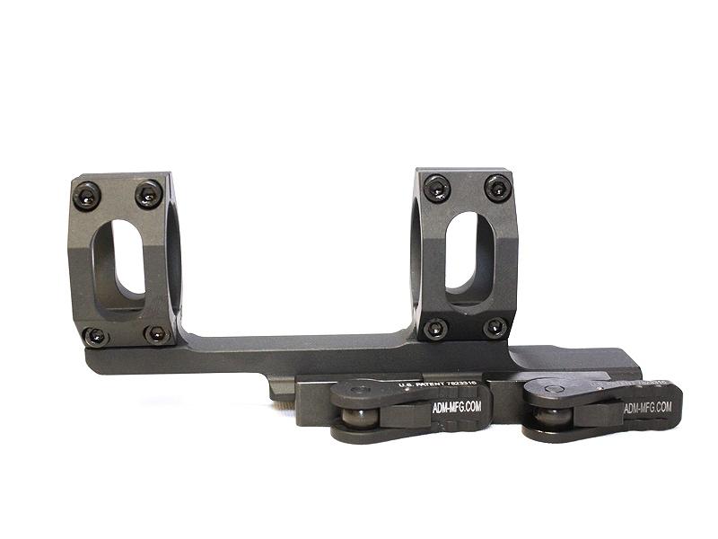 """アメリカンディフェンス ワンピースマウント + 2インチ オフセット 40mm - FDE American Defense MFG Dual ring Scope mount with a 2"""" offset.  1"""" rings"""