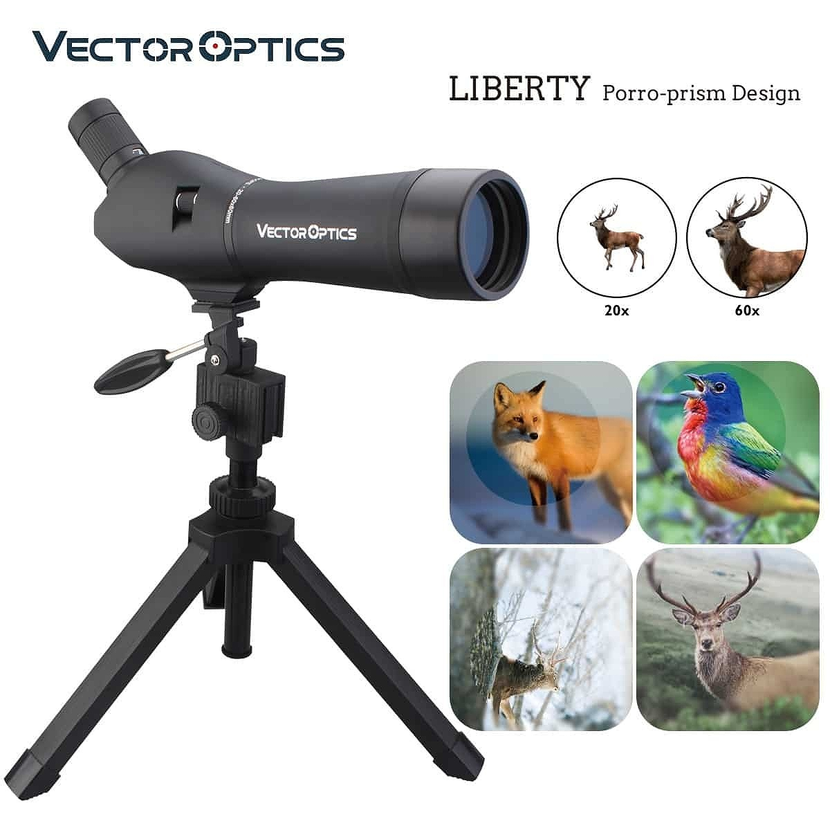 ベクターオプティクス フィールドスコープ Liberty 20-60x60  Vector Optics SCSS-01